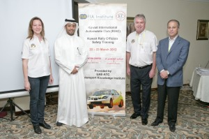 Ronan Morgan leads the MKI team at the Motorsports Safety training in Kuwait